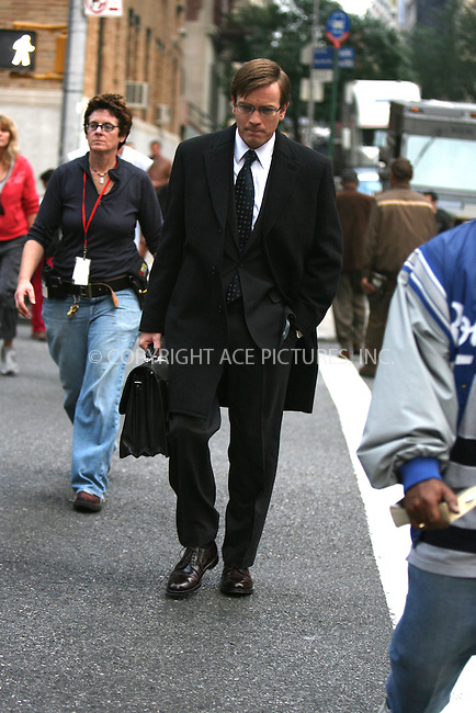 WWW.ACEPIXS.COM ** ** ** ....October 19, 2006, New York City. ....Ewan McGregor on the set of 'The Tourist'. ....Please byline: Philip Vaughan -- ACEPIXS.COM.. *** ***  ..Ace Pictures, Inc:  ..Philip Vaughan (212) 243-8787 or (646) 769 0430..e-mail: info@acepixs.com..web: http://www.acepixs.com