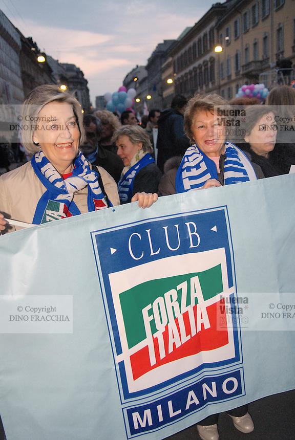 - Milan, demonstration of the parties of right for the safety....- Milano, manifestazione dei partiti di destra per la sicurezza