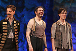 Christian Borle, Kevin Del Aguila & Carson Elrod.during the Broadway Opening Night Performance Curtain Call for 'Peter And The Starcatcher' at the Brooks Atkinson Theatre on 4/15/2012 in New York City.