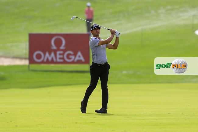 Wade Ormsby (AUS) on the 1st during Round 1 of the Omega Dubai Desert Classic, Emirates Golf Club, Dubai,  United Arab Emirates. 24/01/2019<br /> Picture: Golffile | Thos Caffrey<br /> <br /> <br /> All photo usage must carry mandatory copyright credit (© Golffile | Thos Caffrey)