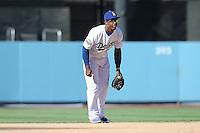 08/26/12 Los Angeles, CA: Los Angeles Dodgers shortstop Hanley Ramirez #13 during an MLB game played between the Los Angeles Dodgers and the Miami Marlins at Dodger Stadium. The Marlins Defeated the Dodgers 6-2