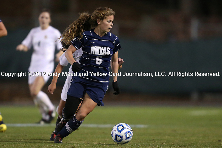 16 November 2012: Georgetown's Daphne Corboz. The Baylor University Bears played the Georgetown University Hoyas at Fetzer Field in Chapel Hill, North Carolina in a 2012 NCAA Division I Women's Soccer Tournament Second Round game. Baylor won the game 2-1 in overtime.