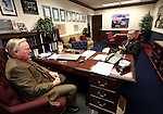 Nevada Senate Republicans Don Gustavson, left, and James Settelmeyer work at the Legislative Building in Carson City, Nev., on Tuesday, Feb. 17, 2015. <br /> Photo by Cathleen Allison