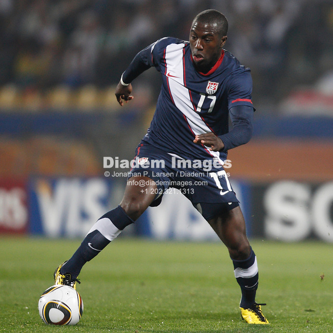 RUSTENBURG, SOUTH AFRICA - JUNE 12:  Jozy Altidore of the United States in action during a 2010 FIFA World Cup soccer match against England June 12, 2010 in Rustenburg, South Africa.  NO mobile use.  Editorial ONLY.(Photograph by Jonathan P. Larsen)