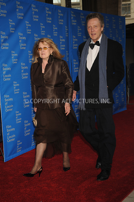 WWW.ACEPIXS.COM . . . . .....April 14, 2008. New York City.....Actor Christopher Walken (right) and guest attend the 35th Annual Film Society of Lincoln Center Gala Tribute to Meryl Streep at Avery Fisher Hall, Lincoln Center...  ....Please byline: Kristin Callahan - ACEPIXS.COM..... *** ***..Ace Pictures, Inc:  ..Philip Vaughan (646) 769 0430..e-mail: info@acepixs.com..web: http://www.acepixs.com