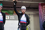 Peter Sagan of Slovakia at sign on before the Men Elite Road Race of the UCI World Championships 2019 running 280km from Leeds to Harrogate, England. 29th September 2019.<br /> Picture: Colin Flockton | Cyclefile<br /> <br /> All photos usage must carry mandatory copyright credit (© Cyclefile | Colin Flockton)