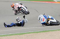 Takaaki Nakagami Accident during the  qualifying practice at Grand Prix Aragon 2012