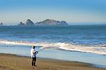 A fisherman on the Oregon coast.