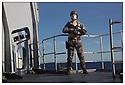 Porte h&eacute;licopt&egrave;res Jeanne d'Arc<br /> Ocean Atlantique<br /> Fusilier marin<br /> PM Saunier