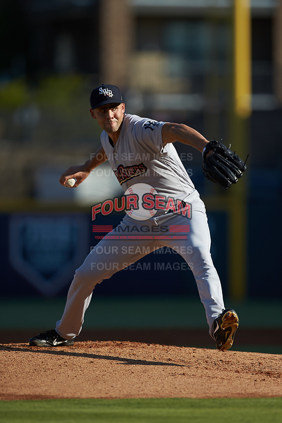 Scranton/Wilkes-Barre RailRiders starting pitcher Ben Heller (32) in action against the Gwinnett Stripers at Coolray Field on August 18, 2019 in Lawrenceville, Georgia. The RailRiders defeated the Stripers 9-3. (Brian Westerholt/Four Seam Images)