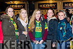 Tara pigott, Mary Griffin, Katie Pigott, Gemma Teahan and erin Kehoe Milltown at the Kerry team homecoming in Killarney on Monday