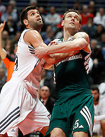 21/02/2014<br /> EUROLEAGUE BASKETBALL<br /> REAL MADRID - ZALGIRIS<br /> 15 JAVTOKAS Center (ZALGIRIS)<br /> 9 FELIPE REYES Power (REAL MADRID)