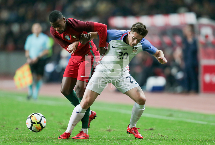 Leiria, Portugal - Tuesday November 14, 2017: Jorge Villafaña during an International friendly match between the United States (USA) and Portugal (POR) at Estádio Dr. Magalhães Pessoa.