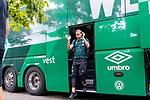 20.07.2019, Heinz Detmar Stadion, Lohne, Interwetten Cup 1.VfL Osnabrück vs SV Werder Bremen<br /> <br /> im Bild / picture shows <br /> Ankunft Werder bremen in Lohne<br /> Ludwig Augustinsson (Werder Bremen #05)<br /> Foto © nordphoto / Kokenge