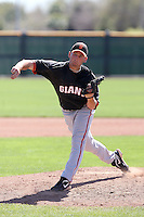 Brennan Flick #70 of the San Francisco Giants plays in a minor league spring training game against the Colorado Rockies at the Giants minor league complex on March 30, 2011  in Scottsdale, Arizona. .Photo by:  Bill Mitchell/Four Seam Images.