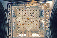 York: York Minster--Tower at Crossing, looking up. Photo '90.