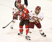 Kelly Sabatine (SLU - 16), Blake Bolden (BC - 10) - The Boston College Eagles defeated the visiting St. Lawrence University Saints 6-3 (EN) in their NCAA Quarterfinal match on Saturday, March 10, 2012, at Kelley Rink in Conte Forum in Chestnut Hill, Massachusetts.
