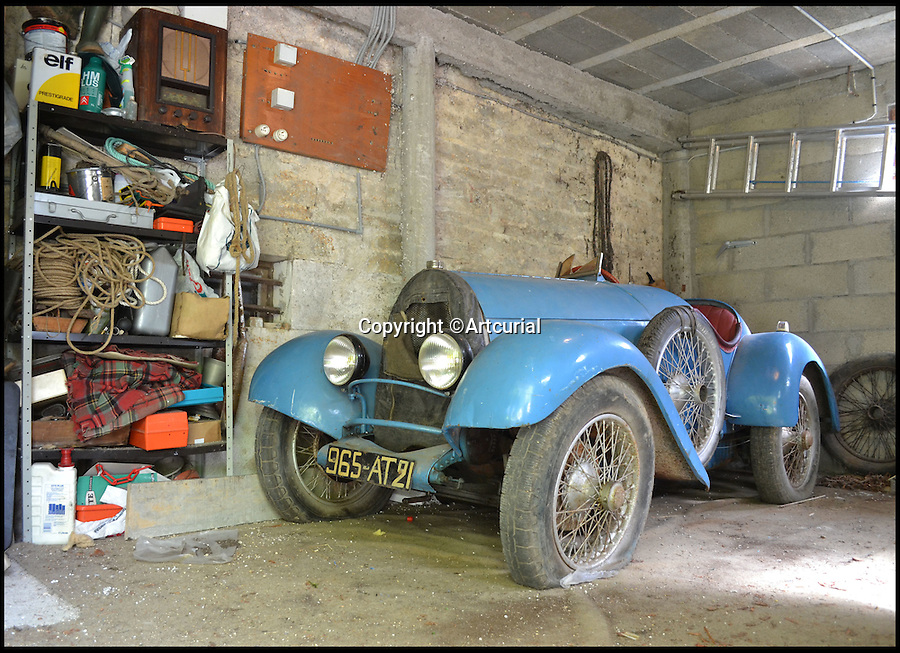 BNPS.co.uk (01202 558833)<br /> Pic: Artcurial/BNPS<br /> <br /> Barn find Bugatti set to sell for &pound;200,000.<br /> <br /> A 90 year old Bugatti Brescia has been discovered languishing in a french barn, and despite its rather 'tired' condition is set to sell for &pound;200,000 at auction.<br /> <br /> The 'outstanding and extremely rare' car, is one of just twelve surviving examples of the model made by Ettore Bugatti between the wars.<br /> <br /> The has been in the hands of the same owner since 1953, and has not moved for some 40 years.<br /> <br /> Auctioneers Artcurial are selling the car at their Paris sale of 22 June.