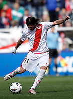 Rayo Vallecano's Dominguez  during La Liga  match. February 24,2013.(ALTERPHOTOS/Alconada)