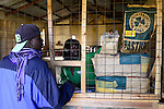 KENYA, County Bungoma, village Tongaren, AGROVET shop, selling of agricultural products like seeds, fertilizer, pesticides / KENIA, AGROVET Laden, Verkauf Saatgut, Tierfutter, Duenger, Medikamente fuer Tiermedizin