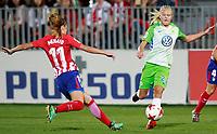 Atletico de Madrid's Carmen Menayo (l) and VfL Wolfsburg's Pernille Harden during UEFA Womens Champions League 2017/2018, 1/16 Final, 1st match. October 4,2017. (ALTERPHOTOS/Acero) /NortePhoto.com /NortePhoto.com