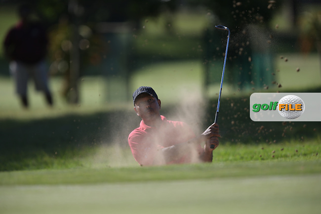 Jeev Milkha Singh (IND) in the bunker on 16th during Round Two of the Africa Open 2015 at the East London Golf Club, East London, Eastern Cape, South Africa. Picture:  David Lloyd / www.golffile.ie. 06/03/2015