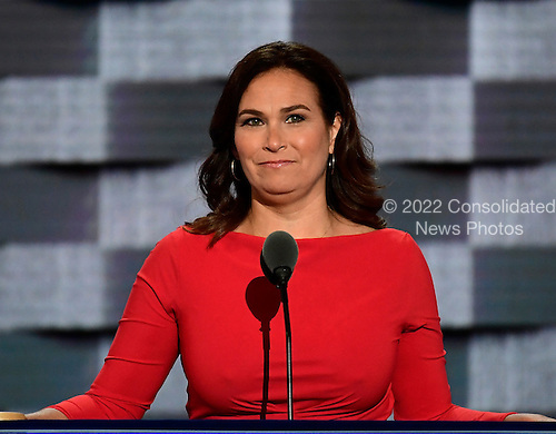 Elyse Hogue, President, NARAL Pro-Choice America makes remarks during the third session of the 2016 Democratic National Convention at the Wells Fargo Center in Philadelphia, Pennsylvania on Wednesday, July 27, 2016.<br /> Credit: Ron Sachs / CNP<br /> (RESTRICTION: NO New York or New Jersey Newspapers or newspapers within a 75 mile radius of New York City)