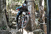7th September 2017, Smithfield Forest, Cairns, Australia; UCI Mountain Bike World Championships; Luca Shaw (USA) from SANTA CRUZ SYNDICATE during downhill practice
