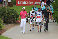 Ross Fisher (ENG) and Ross Fisher (ENG) on the 14th tee during the 3rd round of the DP World Tour Championship, Jumeirah Golf Estates, Dubai, United Arab Emirates. 17/11/2018<br /> Picture: Golffile | Fran Caffrey<br /> <br /> <br /> All photo usage must carry mandatory copyright credit (© Golffile | Fran Caffrey)