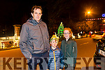 Peter Cornally, Daire Cornally, Orna Cornally from Firies  at the fireworks on Denny Street on Saturday night