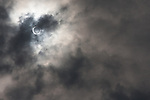 A total solar eclipse at 7:32am in Tsukushino Tokyo, Japan. Monday May 21st 2012