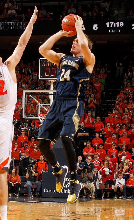 Notre Dame guard/forward Pat Connaughton (24) during the game Saturday, February 22, 2014,  in Charlottesville, VA. Virginia won 70-49.