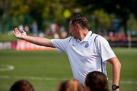 Kansas City, MO - Wednesday August 16, 2017: Vlatko Andonovski during a regular season National Women's Soccer League (NWSL) match between FC Kansas City and the Orlando Pride at Children's Mercy Victory Field.