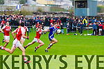 St Mary's Paul O'Donoghue with all the hard work done gets in behind the Waterville defensive line leaving Waterville's Daniel O'Dwyer in his wake and make an easy score for the 2014 South Kerry Champions.  St Mary's 0-14 Waterville 0-7.