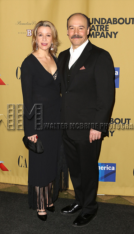 Linda Emond and Danny Burstein attending the Broadway Opening Night After Party for 'Cabaret' at Studio 54 on April 24, 2014 in New York City.
