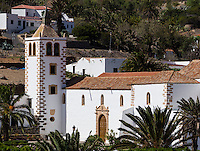 Spain, ESP, Canary Islands, Fuerteventura, Betancuria, 2012Oct14: The church Santa Maria at Betancuria.