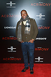 "Music producer arrives on the red-carpet for the Tyler Perry""s ACRIMONY movie premiere at the School of Visual Arts Theatre in New York City, on March 27, 2018."