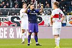 09.11.2019, Stadion an der Bremer Brücke, Osnabrück, GER, 2. FBL, VfL Osnabrueck vs. VfB Stuttgart<br /> <br /> ,DFL REGULATIONS PROHIBIT ANY USE OF PHOTOGRAPHS AS IMAGE SEQUENCES AND/OR QUASI-VIDEO, <br />   <br /> im Bild<br /> Marcos Alvarez (VfL Osnabrück #9) bejubelt den 1:0-Sieg. Schlussjubel / Schlußjubel / Emotion / Freude / <br /> <br /> <br /> Foto © nordphoto / Paetzel