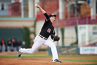 Erie SeaWolves starting pitcher Myles Jaye (15) during a game against the Bowie Baysox on May 12, 2016 at Jerry Uht Park in Erie, Pennsylvania.  Bowie defeated Erie 6-5.  (Mike Janes/Four Seam Images)