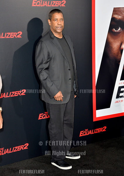 "Denzel Washington at the premiere for ""The Equalizer 2"" at the TCL Chinese Theatre, Los Angeles, USA 17 July 2018<br /> Picture: Paul Smith/Featureflash/SilverHub 0208 004 5359 sales@silverhubmedia.com"