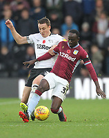 Derby County's Craig Forsyth battles with  Aston Villa's Albert Adomah<br /> <br /> Photographer Mick Walker/CameraSport<br /> <br /> The EFL Sky Bet Championship - Derby County v Aston Villa - Saturday 10th November 2018 - Pride Park - Derby<br /> <br /> World Copyright &copy; 2018 CameraSport. All rights reserved. 43 Linden Ave. Countesthorpe. Leicester. England. LE8 5PG - Tel: +44 (0) 116 277 4147 - admin@camerasport.com - www.camerasport.com