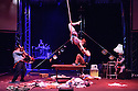 "Edinburgh, UK. 13.08.2015. Lost In Translation Circus presents ""The Hogwallops"", in the Lafayette, in the new Circus Hub, as part of the Edinburgh Festival Fringe. Photograph © Jane Hobson."