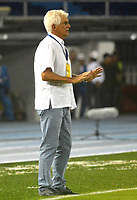BARRANQUILLA - COLOMBIA - 21 - 05 - 2017: Julio Comensaña, técnico de Atletico Junior, durante partido de la fecha 14 entre Atletico Junior y Deportivo Cali por la Liga Aguila II - 2017, jugado en el estadio Metropolitano Roberto Melendez de la ciudad de Barranquilla. / Julio Comensaña, coach of Atletico Junior, during a match of the date 14th between Atletico Junior and Deportivo Cali for the Liga Aguila II - 2017 at the Metropolitano Roberto Melendez Stadium in Barranquilla city, Photo: VizzorImage  / Alfonso Cervantes / Cont.