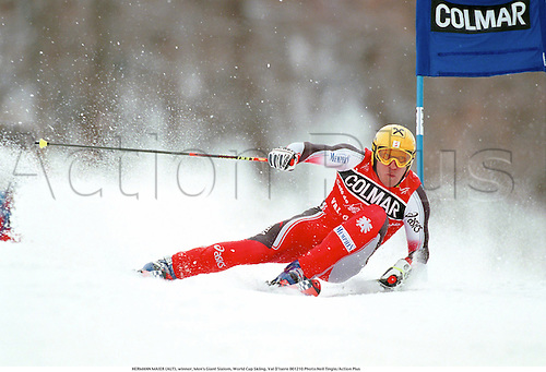 HERMANN MAIER (AUT), winner, Men's Giant Slalom, World Cup Skiing, Val D'Isere 001210 Photo:Neil Tingle/Action Plus...2000.Snow.winter sport.winter sports.wintersport.wintersports.alpine.ski.skier.man