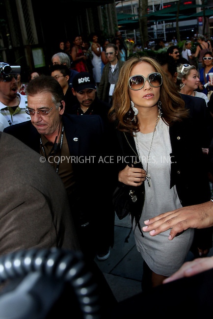 WWW.ACEPIXS.COM . . . . .  ....September 7, 2008. New York City.....Actress Jennifer Lopez attends the Mercedes Benz Fashion Week shows at Bryant Park on September 7, 2008 in New York City.......Please byline: Stan Rose- ACEPIXS.COM.... *** ***..Ace Pictures, Inc:  ..Philip Vaughan (646) 769 0430..e-mail: info@acepixs.com..web: http://www.acepixs.com