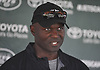 Todd Bowles, head coach, speaks with the media after New York Jets Training Camp at the Atlantic Health Jets Training Center in Florham Park, NJ on Monday, Aug. 14, 2017.