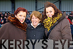Joan Pototzki, Maire Shanahan and Linda Pototzki (all Tralee) pictured at the McGrath Cup semi-final, Kerry v CIT on Sunday.