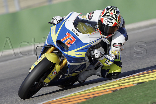 01/03/2010 Ricardo Tormo Circuit Valencia ESP MotoGP Yuki Takahashi riding for the Tech3 Racing team. Photo: Imago/Actionplus. Editorial Use UK.