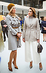 21.03.2018; The Hague, Netherlands: QUEEN RANIA AND QUEEN MAXIMA<br /> visit the Mondriaan Regional Training Center in The Hague.<br /> King Abdullah II and Queen Rania Al Abdullah of Jordan are on an official visit to the Netherlands<br /> Mandatory Photo Credit: &copy;Royal Hashemite Court/NEWSPIX INTERNATIONAL<br /> <br /> IMMEDIATE CONFIRMATION OF USAGE REQUIRED:<br /> Newspix International, 31 Chinnery Hill, Bishop's Stortford, ENGLAND CM23 3PS<br /> Tel:+441279 324672  ; Fax: +441279656877<br /> Mobile:  0777568 1153<br /> e-mail: info@newspixinternational.co.uk<br /> &ldquo;All Fees Payable To Newspix International&rdquo;