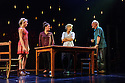 """Frantic Assembly presents """"Things I Know to be True"""" at the Lyric Hammersmith. Picture shows: Kirsty Oswald (Rosie Price), Natalie Casey (Pip Price), Imogen Stubbs (Fran Price), Ewan Stewart (Bob Price)"""